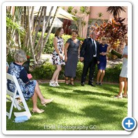 Scott and Rowena's wedding ceremony was an elopement style marriage held on the Chapel Lawn at the Crowne Plaza hotel Surfers Paradise