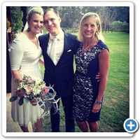 Sue with Tarryn and Lochie after wedding