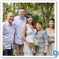 Marge's lovely family came from the Philippines for their daughter's nuptials on the Gold Coast