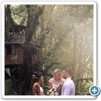 Ethereal setting of Polly and Dan's wedding at the Boomerang Farm Mudgeeraba