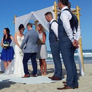 Karen and Jeremy get married on the beach