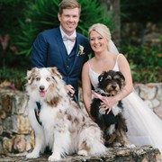 Peter and Tess and their beautiful dogs who were part of the ceremony.