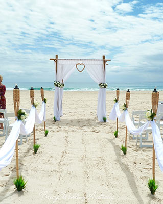 Gold Coast Beach wedding styled by Angelina Arnold of Breeze Weddings