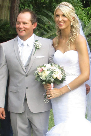 Newlyweds Andrew and Samantha Slater